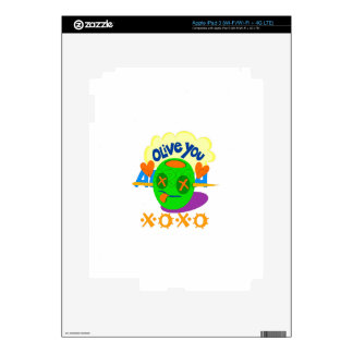 I Love XOXO Africa Decals For iPad 3