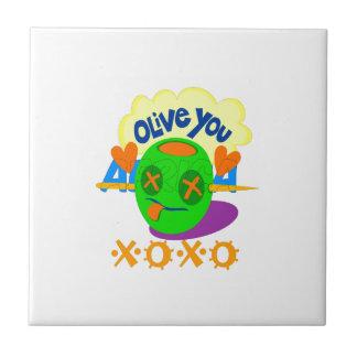 I Love XOXO Africa Tile