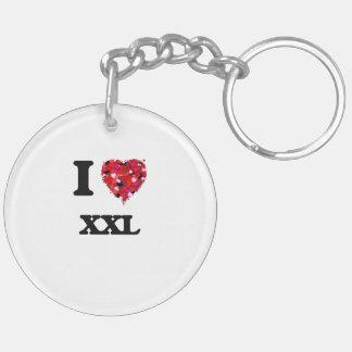 I love Xxl Double-Sided Round Acrylic Keychain