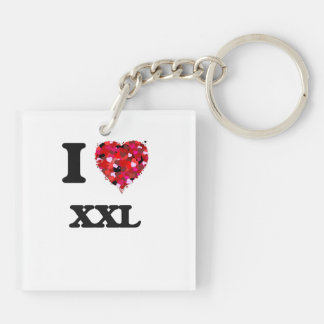 I love Xxl Double-Sided Square Acrylic Keychain