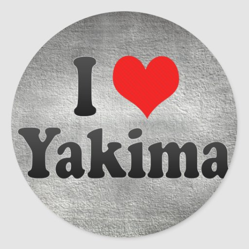 I Love Yakima, United States Sticker