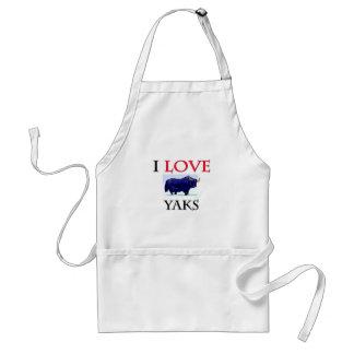 I Love Yaks Adult Apron