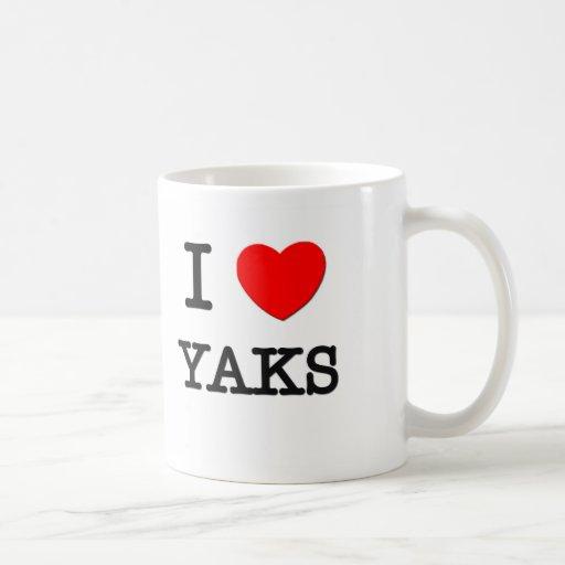 I Love YAKS Classic White Coffee Mug