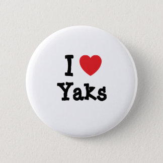 I love Yaks heart custom personalized Pinback Button