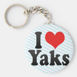 I Love Yaks Keychains