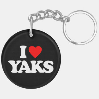 I LOVE YAKS KEY CHAIN