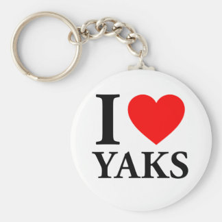 I Love Yaks Key Chains