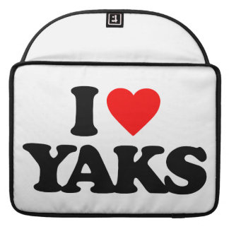 I LOVE YAKS SLEEVES FOR MacBook PRO
