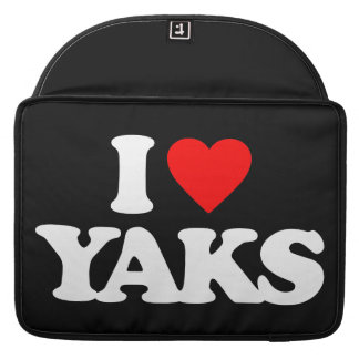 I LOVE YAKS SLEEVE FOR MacBook PRO