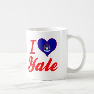 I Love Yale, Michigan Classic White Coffee Mug