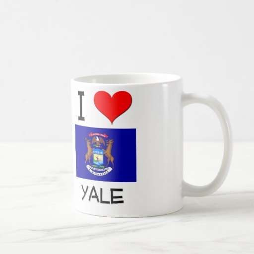 I Love Yale Michigan Classic White Coffee Mug