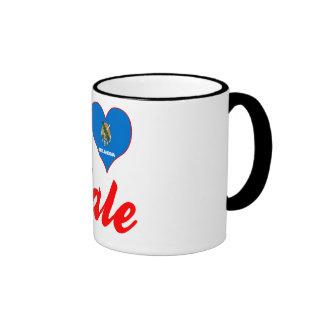 I Love Yale, Oklahoma Ringer Coffee Mug