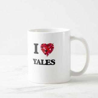I love Yales Classic White Coffee Mug