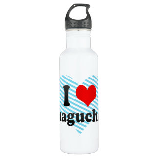I Love Yamaguchi-shi, Japan 24oz Water Bottle