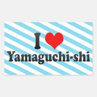 I Love Yamaguchi-shi, Japan Rectangular Sticker