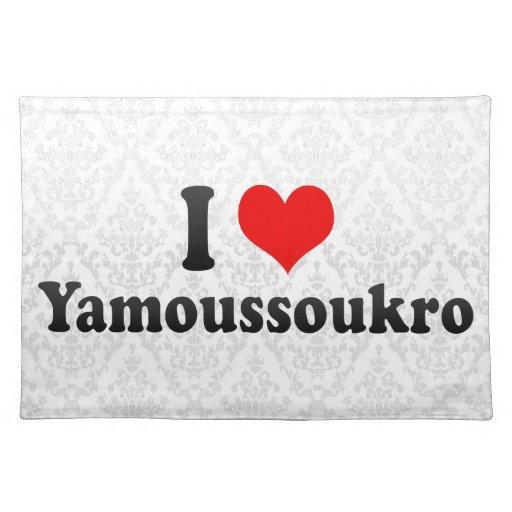 I Love Yamoussoukro, C�te d'Ivoire Cloth Placemat