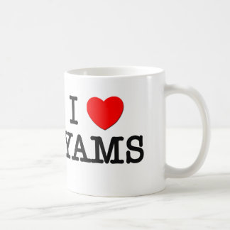 I Love YAMS ( food ) Coffee Mug
