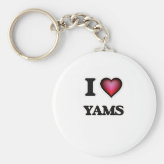 I Love Yams Keychain