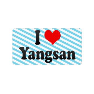 I Love Yangsan, Korea Label