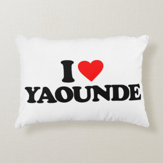I LOVE YAOUNDE ACCENT PILLOW