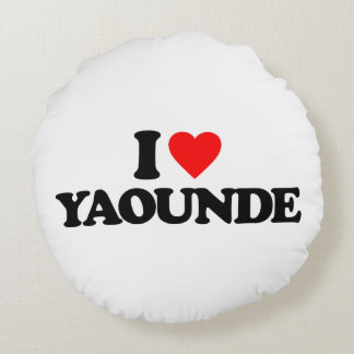 I LOVE YAOUNDE ROUND PILLOW