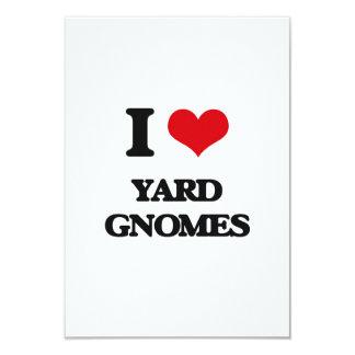 I love Yard Gnomes 3.5x5 Paper Invitation Card