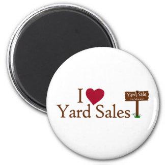 I Love Yard Sales 2 Inch Round Magnet