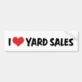 I Love Yard Sales Bumper Sticker Car Bumper Sticker