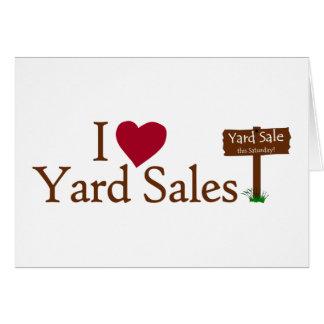I Love Yard Sales Card
