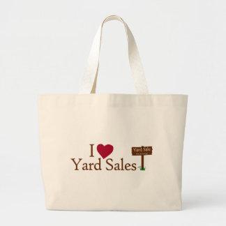I Love Yard Sales Large Tote Bag