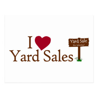 I Love Yard Sales Postcard