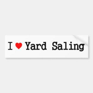I Love Yard Saling Bumper Sticker