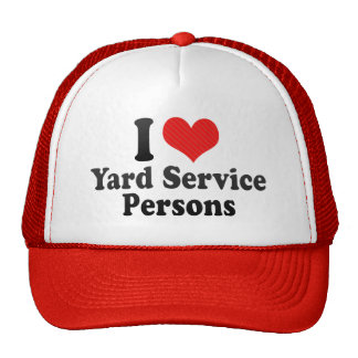 I Love Yard Service Persons Mesh Hats
