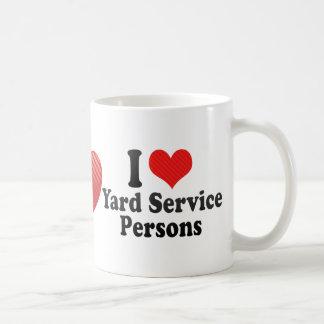 I Love Yard Service Persons Coffee Mugs