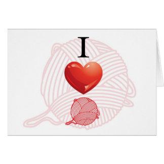 I love yarn card