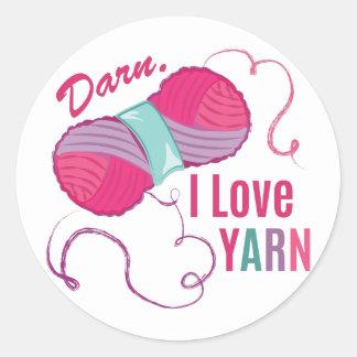 I Love Yarn Classic Round Sticker