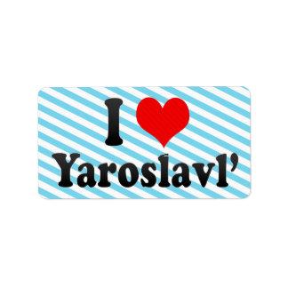 I Love Yaroslavl', Russia Personalized Address Label