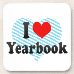 I love Yearbook Drink Coasters