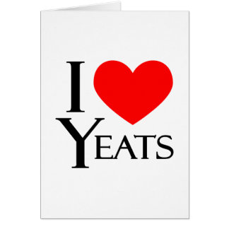 I Love Yeats Card