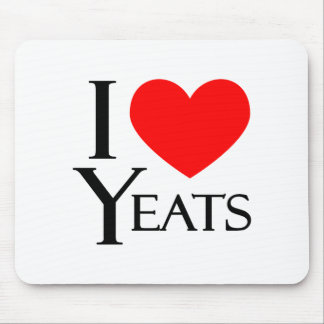I Love Yeats Mouse Pad
