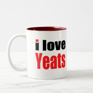 I Love Yeats Two-Tone Coffee Mug