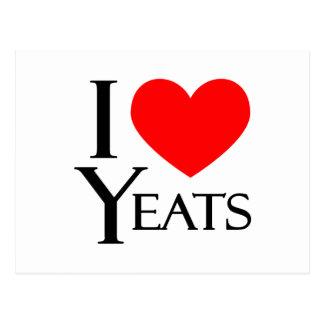 I Love Yeats Postcard