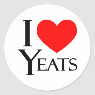 I Love Yeats Stickers