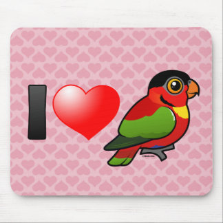 I Love Yellow-bibbed Lories Mouse Pad