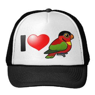 I Love Yellow-bibbed Lories Trucker Hat