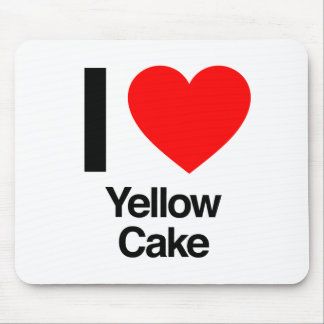 i love yellow cake mouse pad