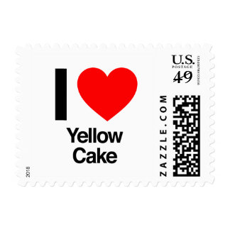i love yellow cake postage stamps