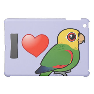 I Love Yellow-headed Amazons iPad Mini Covers