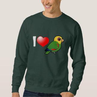 I Love Yellow-headed Amazons Sweatshirt