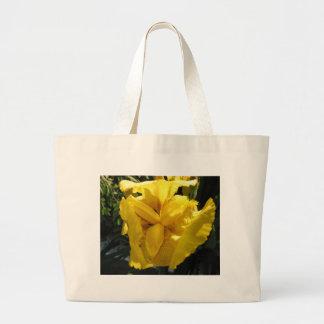 I Love Yellow Irises Jumbo Tote Bag